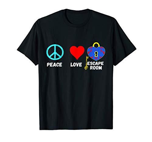 Escape Room Peace Love Exit Game Rätsel Raum Gruppen Spiel T-Shirt