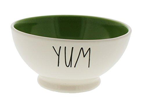 RAE Dunn von Magenta Yum Eis/Müslischale grün innen