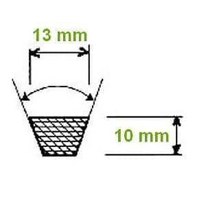 Courroie crantée SPA section 13 mm longueur primitive 1020 mm