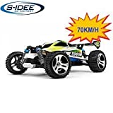 s-idee® 18131 A959-B RC Auto Buggy Monstertruck 1:18 mit 2,4 GHz Fahrzeug 70 km/h Schnell, wendig, Voll Digital Proportional 4x4 Allrad WL Toys ferngesteuertes Buggy Racing Auto