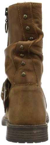 Gattino Tania Bootee Wrinkle Showzip And Strap With Studds, Bottes mixte enfant marrone (Braun (Md Brown  - oiled leather))