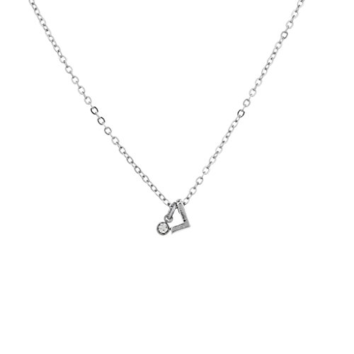LUX Zubehör Silber Ton personalisiert L Initiale Charm Anhänger Halskette Tiffany Toggle Halskette