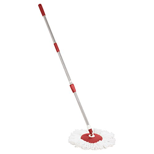 Primeway Spin Mop Handle Set with Disc and Mop Head, Red  available at amazon for Rs.399