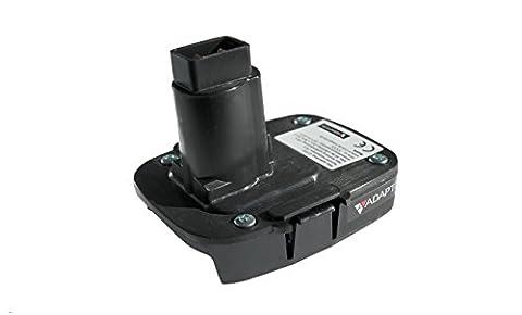 Battery adaptor/converter for DeWALT XRP power tools, machines 18v to 20v