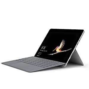 Microsoft Surface Go 25 cm (10 Zoll) 2-in-1 Tablet (Intel Pentium Gold, Intel HD Graphics 615, 8GB RAM, 128GB SSD, Windows 10 im S Modus) + Signature Type Cover Platin Grau (Deutsches Tastaturlayout)