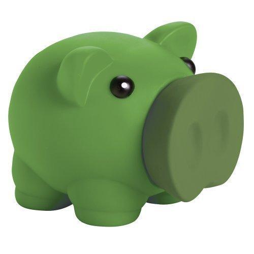 eBuy GB - 1274709, Salvadanaio per Monete e Banconote Piggy Pig, Risparmio per Bambini (Colore Verde)