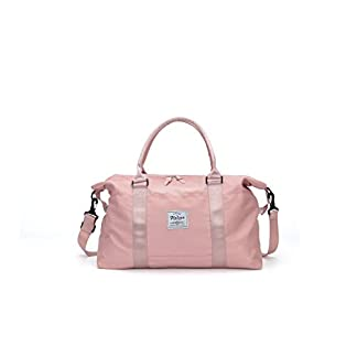 Damen-Sporttasche-Frauen-Reisetasche-modisch-wasserdicht-fr-Damen-und-Herren-Yoga-Pilates-Strand-Freizeit-Sauna-Gym-Tasche-Shopping-Bag-Weekender-Urlaub-Pink
