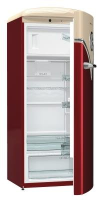 Gorenje obrb153r Freestanding 254L A + + + bordeaux - combi-fridge (Freestanding, Beige, Bordeaux, Right, Rotary, Plastic, 254 (L)