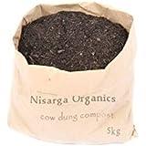 Nisarga Organics Organic Cow Dung Manure and Compost, 5kg (Black)