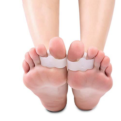 Fußpflege 2-Loch Füße Fußpflege Gel-Zehe-Strecker Separator Valgus Bunion Corrector Schmerzlinderung Health Care Tool/Einheitsgröße/Unisex 10pcs - Zehen Strecker