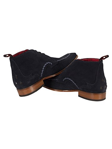 Jeffery West Homme Écharpe Suede Shoes, Bleu Bleu