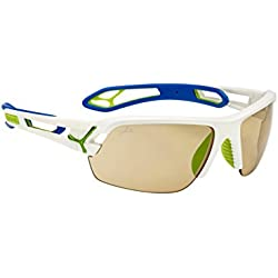 Cébé S'Track Herren-Sonnenbrille Medium bunt - Pro S.Chaigneau Green Blue Vario Perfo + 1000 Clear