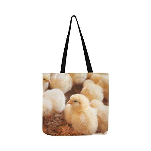 Junge gelbe Baby Küken Leinwand Tote Handtasche Schultertasche Crossbody Taschen Geldbörsen für Männer und Frauen Einkaufstasche