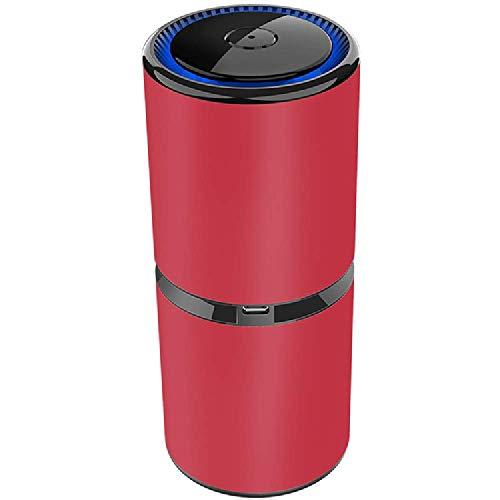 Auto-Luftreiniger, Auto-Luftreiniger, Ioniser, Luftreiniger, Filter für Auto, tragbarer Reiniger für kleine Räume oder Büros, Entfernen von Staub, USB-Aufladung
