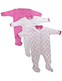 472100561253 Mini Berry Cotton Baby Girl Rompers in Pink Color for 0-3 Months -Combo