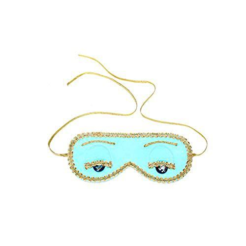 At Breakfast Audrey Kostüm Tiffany's Hepburn - Schlafmaske Audrey Hepburn handgemachte handgemachte Seide (ohne Geschenkbox, Tiffany Türkis)