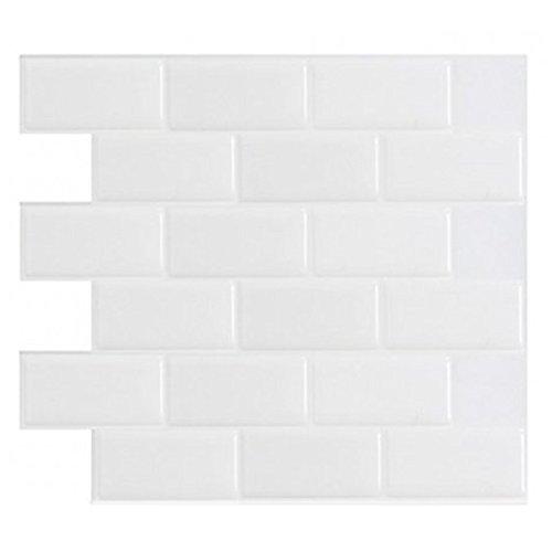 Art3d schälen und Stick Küche Duett Wand Fliesen, weiß Subway Tile Duett (6Pack) (Peel Stick Tile Wand)