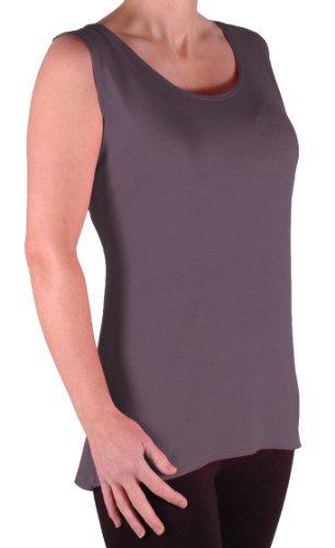 EyeCatch TM - Débardeur long fines bretelles - Virginia - Femme - Grandes Tailles Gris