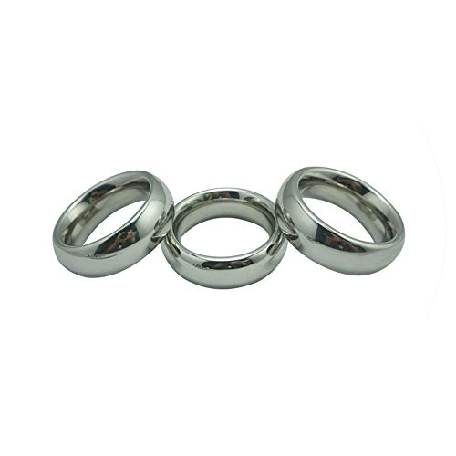 Bed Restraint 40/45/50mm Choose Donut Metal Stainless Steel Rings Male Delay Hard Prevent Impotence Lock Sex Toys,He's 40mm