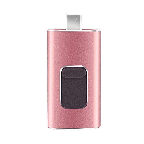 WANSIRUI USB-Flash-Laufwerk USB 2.0 Bis zu 20 MB/s, All-in-One-Universal 4-in-1-U-Disk für USB, Computer mit großer Speicherkapazität USB-4-in-One (Farbe: Gold), Auto-Musik-U-Disk High Speed   Mobil 500-gb-digital-multimedia