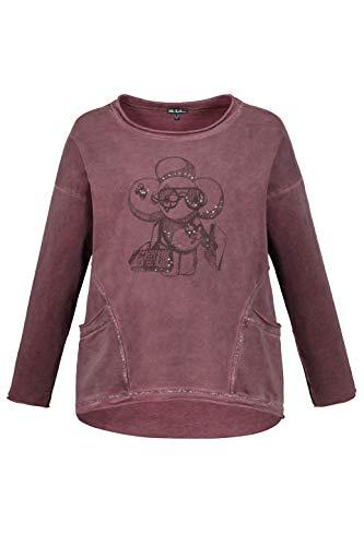 Ulla Popken Damen große Größen Sweatshirt dunkelrot III 721167 64-III -