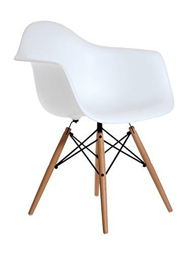 Aryana Home Eames Replik Sessel, 59x 62x 82,50cm 59x62x82.5 cm weiß Test