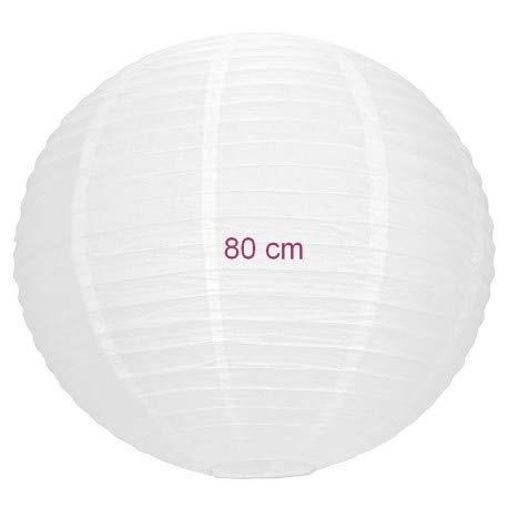 Maxi Lampion Kugel Riesige Chinesische weißer, japanische Steinlaterne, 80cm Durchmesser, zum Aufhängen