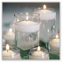 Irpot - 28 x candela tonda bianca galleggiante a11955