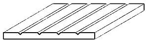 Evergreen-4030-Estructura Placa, 1x 150x 300mm, división 0.75mm, 1Pieza