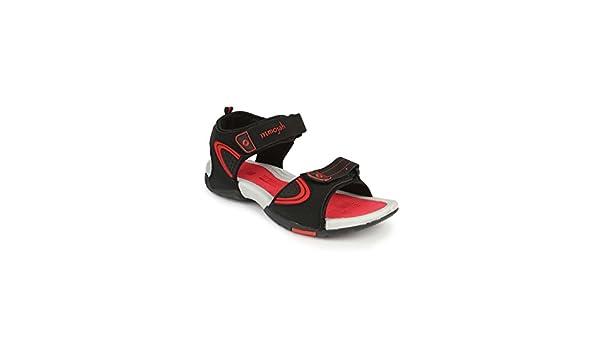 Mmojah Mens Easy-22 Black/Red Sandal -7