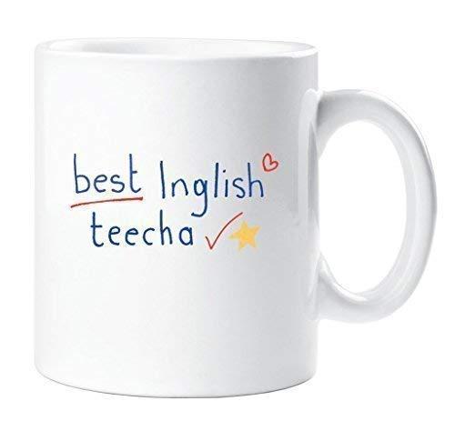 Best Inglish teecha Becher Best Englisch Lehrer Becher Lehrer Geschenk Danke Lehrer Weihnachten Neuheit Humor spassig