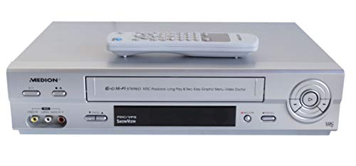 Medion MD 42277 VHS Videorecorder in Silber
