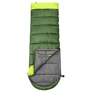 DGB Di Spessore Impermeabile E Caldo Camping Reach Coperta Possono Essere Cuciti in Cotone Viaggi Sacco A Pelo (Colore : Green-Right, Dimensioni : 1.95kg)
