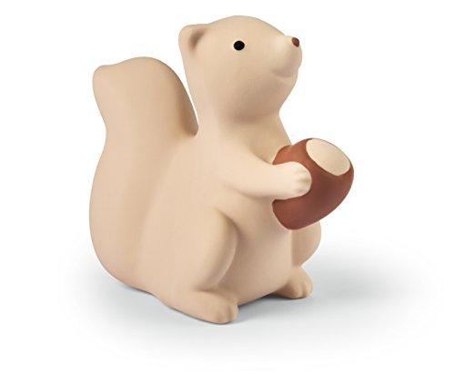 NUK 10256399 Spieltier Eichhörnchen, Babys erstes Spielzeug, aus Naturkautschuk, 1 Stück, beige
