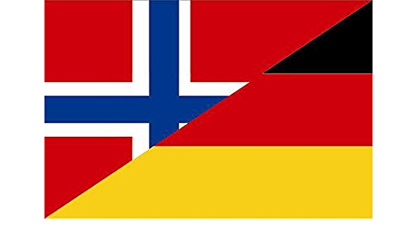 U24 Aufkleber Norwegen Deutschland Flagge Fahne 8 X 5 Cm Autoaufkleber Sticker Auto