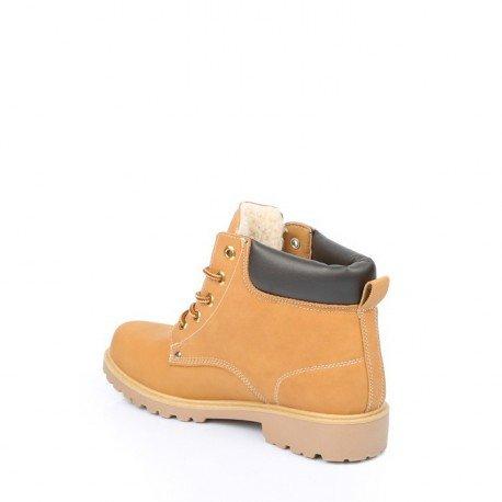 Ideal Shoes - Baskets pour homme style Montagnard Batista Camel