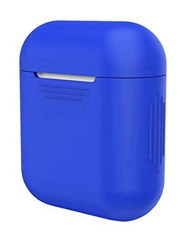 AirPods Hülle aus Silikon by innoGadgets | AirPods Zubehör, Schutzhülle | Griffiges und Robustes Silikon | Leicht zu reinigen | Perfekter Rundum-Schutz - Blue