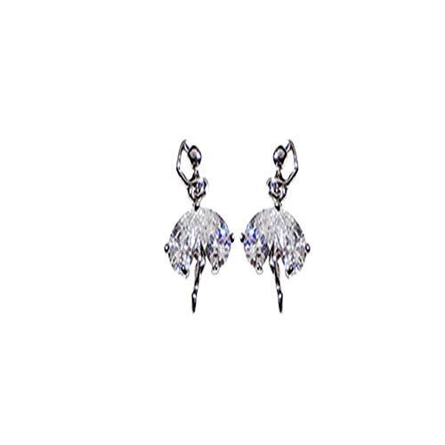 ine Silber Ballett Ohrringe High Sense Netz rote Ohrringe neue Ohrringe ()