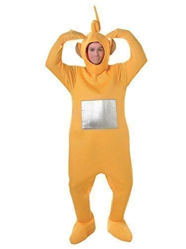Fancy Me Teletubby-Kostüm - Offiziell Lizenzierte Teletubbies-Verkleidung Für Damen & Herren - Tinky-Winky, Po, Dipy, Laa-Laa (Rot, Grün, Lila, Gelb) - Gelb, Einheitsgröße