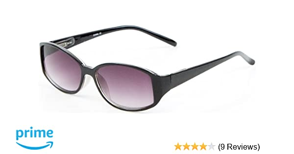 8af8d5b96e +2.50 Womens Black Reading Sunglasses Sun Readers Glasses Flex Temples 100% UV  Protection Lightly Tinted Gradient Lens Retro Fashion Classic  Amazon.co.uk   ...