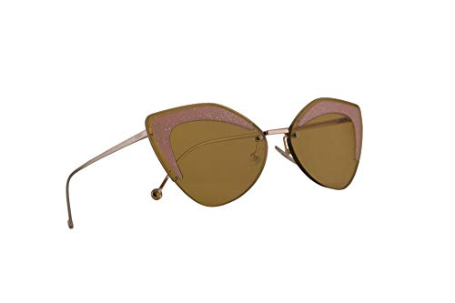 Fendi FF0355/S Sonnenbrille Ochre Mit Braunen Gläsern 66mm FMP 0355S FF0355S FF 0355/S