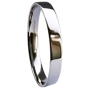 QUALITY UK Palladium 500 Heavy 2.5mm Flat Court / Easy Fit Wedding Ring 2.3g Size I