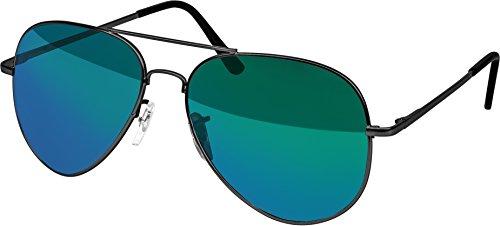 Balinco Hochwertige Pilotenbrille Sonnenbrille 70er Jahre Herren & Damen Sunglasses Fliegerbrille verspiegelt (Grey/Matt-ICE)