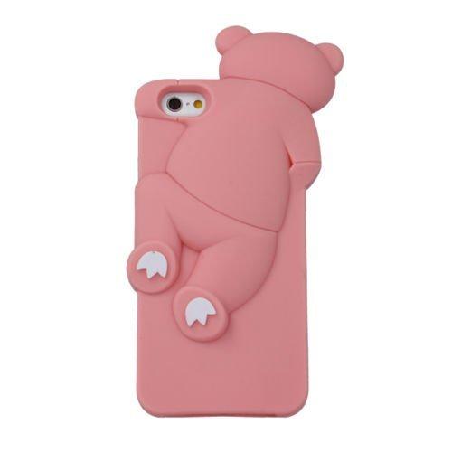 "BACK CASE 3D TEDDYBÄR 2 für Apple iPhone 6 4,7"" Apple iPhone 6S Hülle Cover Case Schutzhülle Tasche Teddy (rosa) rosa"