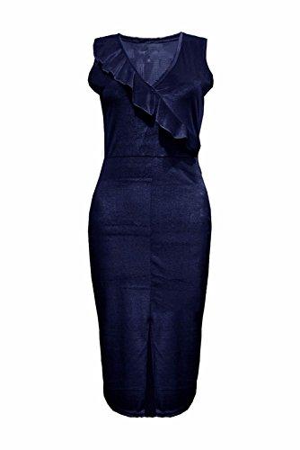 Janisramone - Robe - Sans Manche - Femme * taille unique Bleu Marine