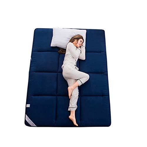 Wybf pieghevole materasso tatami stuoie bed ground materasso letto futon materasso tradizionale matrimoniale singolo dormitori campeggio firm cotone bianco futon portatile fodera,blue,180 * 200cm