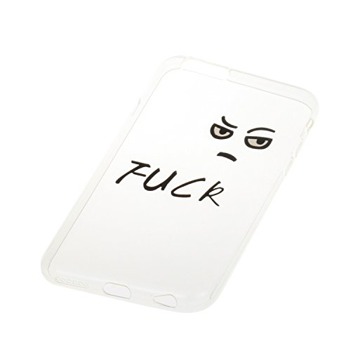 """iPhone 6 Plus,6S Plus 5.5"""" Coque, Etsue pour iPhone 6 Plus,6S Plus 5.5"""" Vogue Gel Housse étui de téléphone mobile ,TPU Silicone Matériau Transparente Ultra Mince Supérieur Semi Transparent Doux Coque  FUCK"""