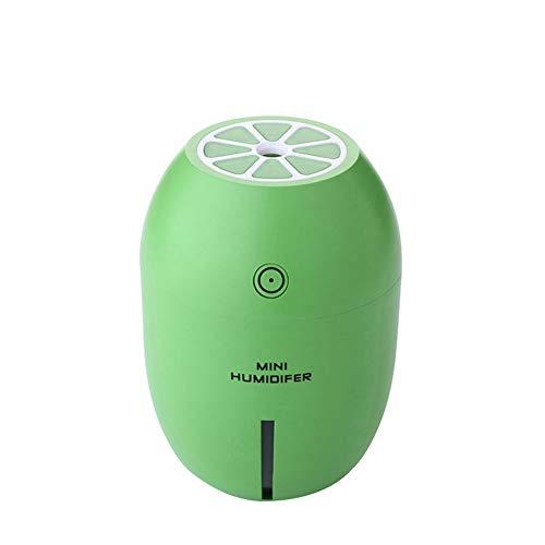 jingyuu Humidificador ultrasónico, Mini humidificador de limón USB para Dormitorio, Sala de Estar, Oficina(Verde)