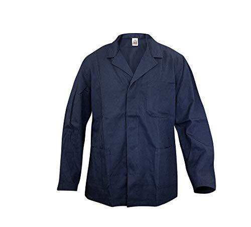 Giacca da Lavoro in Cotone Blu - Giubbetto - Camice - Grembiule (XL)
