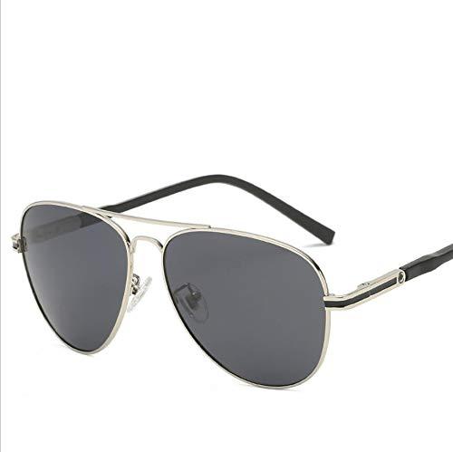 SUNHAO Sonnenbrille Herren Fahren polarisierte Sportbrillen Angeln Golfbrille Schutz Fashion Style Metallrahmen Ultra Light Aviator Mirror Retro